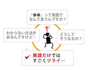 ゼロから習う英会話の初心者が外国人講師とレッスンするとストレスが多いことを示した図